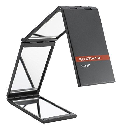 REDENHAIR| Spiegel 360º | Klappspiegel | Spiegel, um den ganzen Kopf zu sehen | Reisespiegel | Maße: 7x48cm