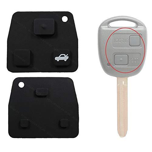 Toyota Schlüssel Tastenfeld Tastengummi für 2 oder 3 Tasten Gehäuse 1 Stück Neu