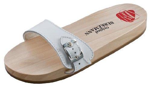 Berkemann Original Sandale Pantoletten Unisex-Erwachsene, Weiß (weiß 100), 39.5 EU