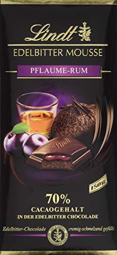 Lindt & Sprüngli Edelbitter Mousse Tafel Pflaume-Rum, Edelbitter-Chocolade cremig-schmelzend gefüllt, 70% Cacaogehalt in der Edelbitter-Chocolade, glutenfrei, 13er Pack (13 x 150 g)