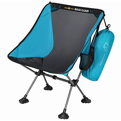Rock Cloud Portable Camping Chair Ultralight Folding Chairs Outdoor with Oversize Mesh and Legs...