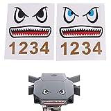 Sticker para Drones con diseño de tiburón, Set de 2, Adecuado para los Drones como dji Mavic 2 Pro, dji Mavic 2 Zoom, dji Mavic Air y dji Mavic Mini, Pegatina Protectora de Cuerpo de calcomanía
