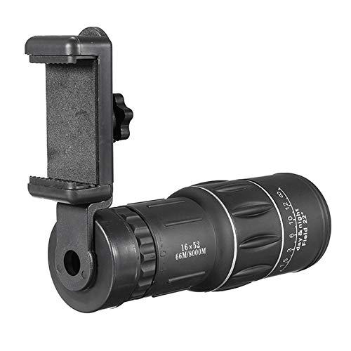 DSENIW QIDOFAN Binoculares Telescopio 16x Lente de Zoom monocular con Lente de cámara de teléfono móvil trípode for teléfonos Inteligentes for Deportes de Caza de Camping
