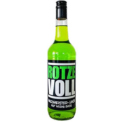 rotzevoll ® Waldmeister Likör auf Wodka Basis 0,7l Flasche 15% vol. rotze voll