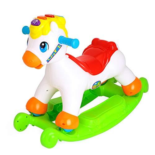 LIUXING-Toys Schaukelstuhl für Kinder, Schaukelpferd, tragbar und Schaukelstuhl, Plastik, weiß, 62 * 29 * 37CM