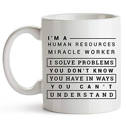 Taza té cerámica uso prolongado Trabajador de milagros de recursos humanos Trabajador de milagros de recursos humanos Taza bebida café Regalo