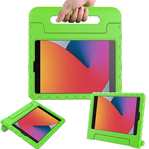 Surom Case for New iPad 10.2 Inch 2020/2019 (8th/7th Generation), Shockproof Lightweight Kids Friendly Convertible Handle Stand Protective Case for 2020/2019 iPad 10.2, iPad Air 3 10.5 2019, Green