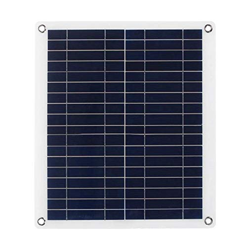 GNY Cargador Solar Panel Solar Flexible portátil 50W Paneles Células solares Módulo de células Doble USB 12V con Cargador de Coche Clip de cocodrilo Cargador Exterior