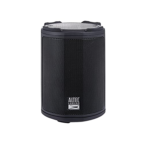 Altec Lansing HydraMotion Wireless Bluetooth Speaker with 360 Degree Sound, Portable IP67 Waterproof for Outdoors, Shockproof, Snowproof, Everything Proof, 12 Hour Playtime (Black)