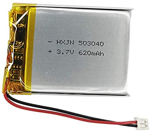3.7V 503040 Batería 620mAh para Cozmo Vector Robot Batería Reemplazo Skybell HD WiFi Video Video Dropbell Reemplazo de la batería Flysight FPV Watch