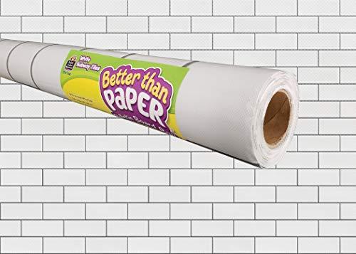White Subway Tiles Better Than Paper Bulletin Board Roll