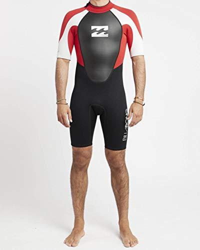 Billabong Intruder BZ SS SPRIN - Traje de neopreno de surf para hombre, Rojo, M