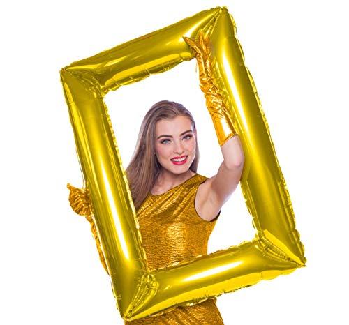 folat balón de papel de aluminio supershape 85x 60cm marco Photo Booth Oro, 5fl61796