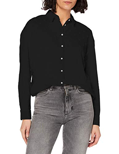 Only ONLJINNY L/S Shirt WVN Blusas, Negro, M para Mujer