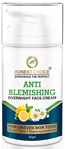 Honest Choice Bye Bye Blemishes Face Cream - Pigmentation Removal Cream - Anti Blemishe and Anti Acne Cream for Women & Men 50gm