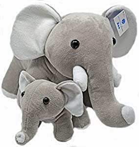 Exceptional Home Elephant Stuffed Animals Super Soft Plush Mother Baby Elephants Toy Set