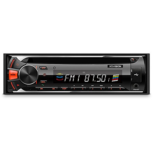 XOVISION XR301BT Single-DIN in-Dash CD AM/FM-MPX2 Receiver with Bluetooth & USB & SD Card Inputs