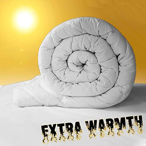 Value Comfort Home Heavy-Weight Extreme Warm 16.5 tog 100% Soft Silky Microfibre Feels Like Down Duvet Quilt Double 16.5