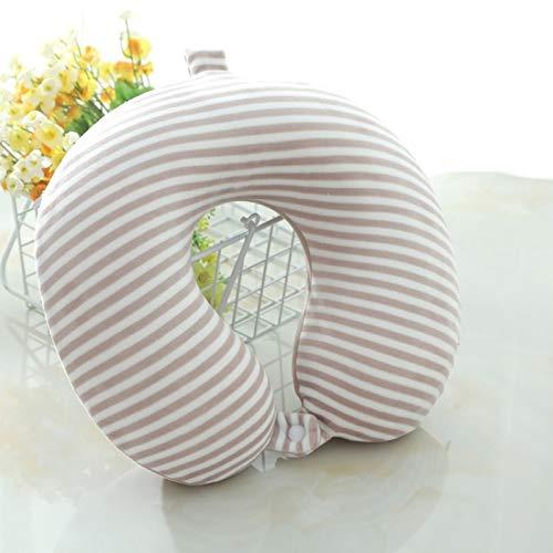 Cuscino per collo in cotone di memoria che protegge il collo per il pranzo pausa cuscino da viaggio che protegge la colonna vertebrale cervicale a forma di U cuscino