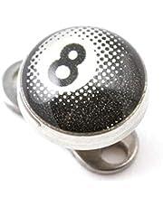 VOTREPIERCING Logo Pool 8 Blanco para Piercing Microdermal Estándar x 5 mm