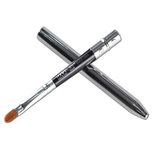 jkhhi Double TêTe Pinceaux Maquillages Yeux Eyeliner Cheveux SynthéTiques Portable Waterproof Liquid Eye Liner Multifonctionnel