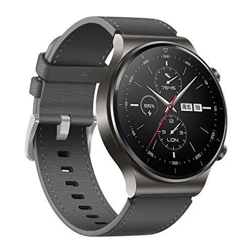 GZMYDF Correa de cuero de 22 mm para Huawei Watch GT 2 Pro Band para Huawei Gt2 Pro Band pulsera accesorios reemplazables (color gris, tamaño: 22 mm otras correas)