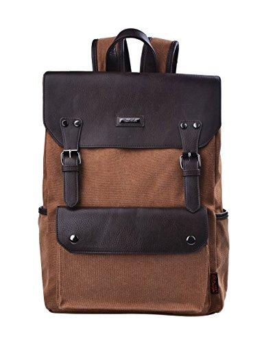 Douguyan gli uomini di moda casual zaino borsa da viaggio zaino YH00231 Marrone