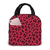 Caja de bolsa de picnic portátil con estampado de leopardo para mujeres,hombres,trabajo universitario,senderismo,playa,pesca,niños,escuela,picnic o viajes