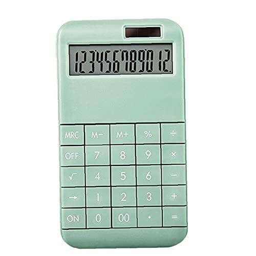 calculadora de escritorio, con 12 dígitos pantalla del monitor, para uso en el hogar Oficina Verde, calculadora,