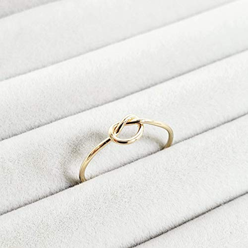 Solid 10k Gold Stacking Knot Ring