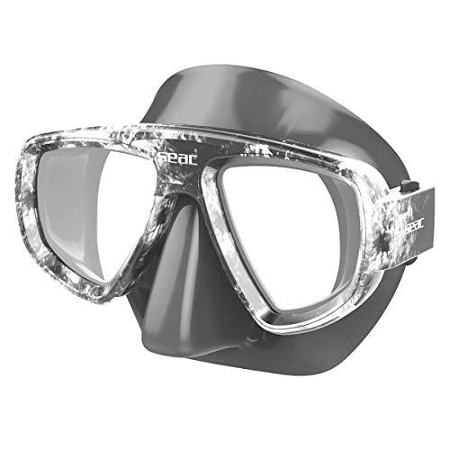 SEAC Extreme Máscara de Buceo y snokeling Estuche. Adaptación de Cristales graduados para la miopía, Unisex-Adult, Negro/Camo Gris, estándar