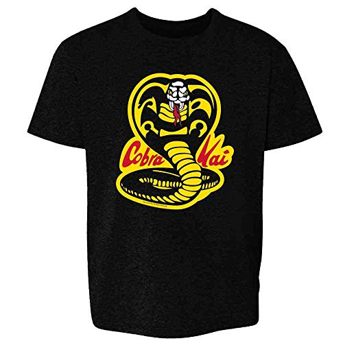 Cobra Kai Costume The Karate Kid Retro Martial Art Black M Youth Kids Girl Boy T-Shirt