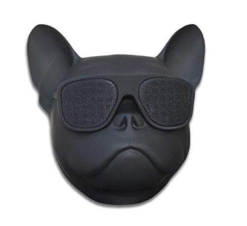 Portable Wireless Bulldog Bluetooth Speaker for Desktop PC/Laptop Notebook/Mobile Phone/MP3/MP4 Player (Black)
