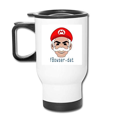 Mr Mario Fsociety Maske Mr T 14 Oz Edelstahlbecher doppelwandige Vakuumkaffeetasse mit spritzwassergeschütztem Deckel für heiße und kalte Getränke