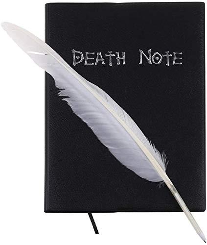 Cuaderno de notas de la muerte para cosplay y plumas, libro de animación y escritura de arte