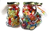 GUMMY BEAR HAND SOAPS in a cute Glass Bear Jar | SOUR PATCH FRAGRANCE | Multicolored Individual | Handmade in Pittsburgh, PA USA | Great for Travel Gifts Party Kids Rainbow Pride