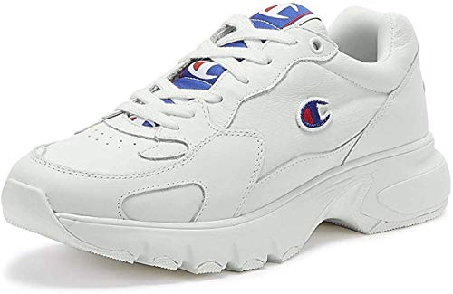 Champion CWA-1 Damen Weiß Leder Sneakers-UK 7 / EU 41