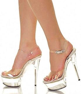 TWOMDE Women Pumps Transparent High Heels Women Shoes Crystal Wedding Shoes Women Heels Women Sandals Platform PVC Ladies Shoes