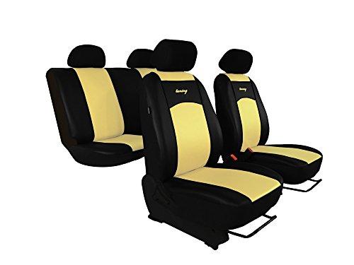 Sitzbezüge passend für E-Klasse (W124, W210). Super Qualität, DESIGN KUNSTLEDER. In diesem Angebot BEIGE (In 7 Farben bei anderen Angeboten erhältlich) . Komplett besteht aus: Sitzbezügen + Kopfstützen + Montagehäckchen.