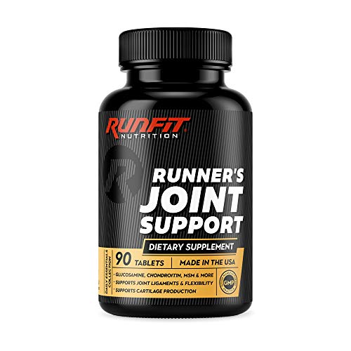 Runner's Joint Support - Stop Joint Pain Now - Glucosamine, Chondroitin, MSM & More - Joint Supplement Helps Relieve & Prevent Knee and Other Joint Pain - 90 Tablets (45 Day Supply)