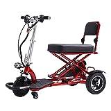 JTYX Scooter Mobility Scooter eléctrico Plegable de 3 Ruedas - hasta 30-40 km de Largo Alcance y 20 km/h Patinete eléctrico portátil Ligero para discapacitados - Soporta 300 Libras de Peso