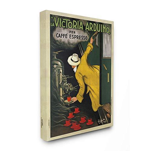 Stupell Industries La Victoria Arduino Cafe Espresso Vintage Inspired Poster Canvas Wall Art, 16 x 20, Design by Artist VeeBee