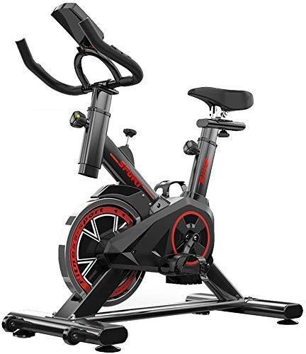 Ejercicio interior Ciclismo Entrenador de bicicletas, bicicleta de deporte profesional Estacionaria con asiento y resistencia ajustable, cómoda bicicleta de ciclo de cojín para el hogar Cardio Workou