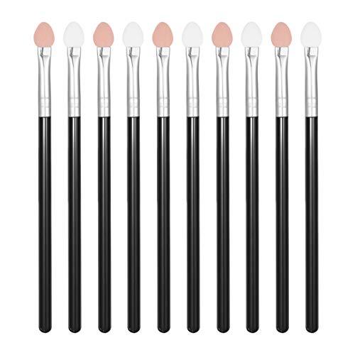 Beaupretty Lurrose Lidschatten Schwamm Applikatoren Kunststoffgriff Make-up Lidschatten Pinsel Applikatoren Set für Frauen 10St