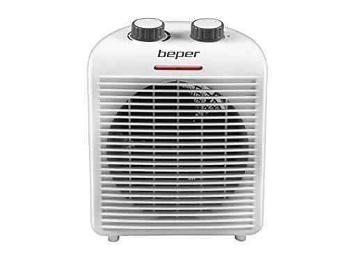 Beper RI.094 Termoventilatore Caldo e Freddo, Termostato regolabile, Ventilazione fredda per tutte le stagioni, Compatto, Leggero, Potenza 2000 Watt, Bianco/Grigio