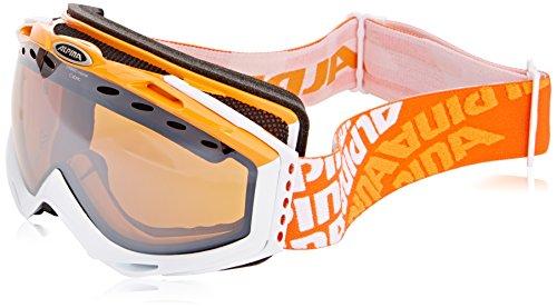 ALPINA Cybric HM Skibrille (Farbe: 846 orange/White, Scheibe: Spiegel orange sphärisch)