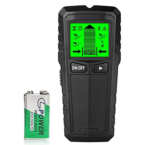5 in 1 Stud Finder Wall Scanner Metal and Precise AC Live Wire Detector EdgeFinding Scanning amp Large LCD Display amp Warning Detection for AC Wire/Metal/Studs Wood