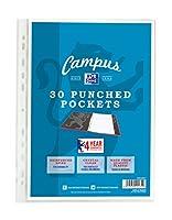 オックスフォードキャンパスa4Punchedポケット–30ポケット