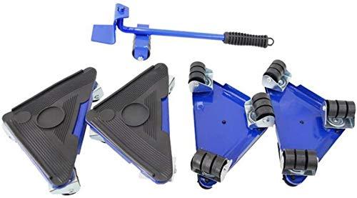 JISHIYU -S Heavy Furniture - Juego de 5 herramientas para mover muebles, perfecto para cajas/armarios/lavadoras/secadoras/sofás, amarillo, azul (color: azul)