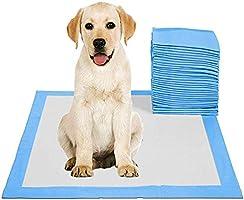 اغطية تبول لتدريب الحيوانات الأليفة تستخدم لمرة واحدة، سريعة الامتصاص والجفاف، مقاس 45 × 60 سم M - 50 قطعة